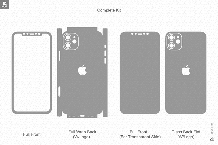 iPhone 11 2019 Skin Template Vector