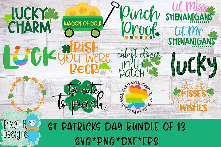 St Patricks Day Bundle of 13 SVG Cut Files