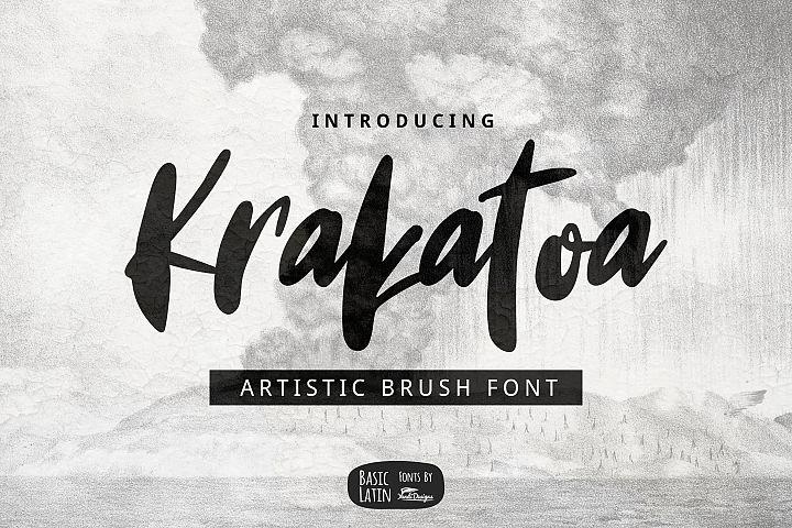 Krakatoa Brush Font
