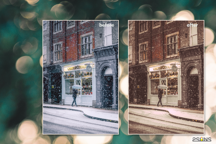 Christmas presets, winter lightroom instagram dng pc mobile example image 6