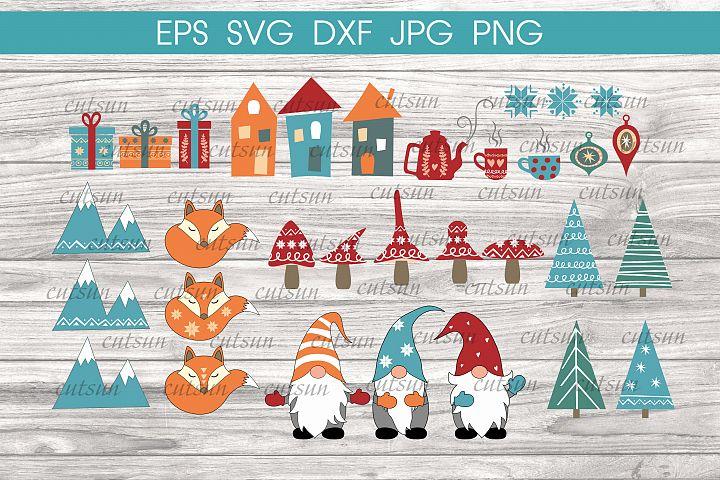 Christmas Hygge SVG bundle | Christmas bundle Hygge SVG