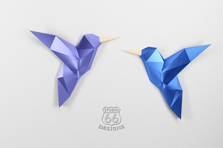 Papercraft Birds, Papercraft 3D, Origami Birds, Home Decor