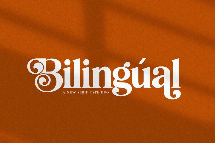 Bilingual Serif Font Duo