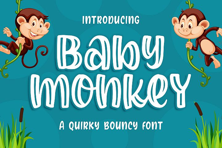 Baby Monkey - a Quirky Bouncy Font
