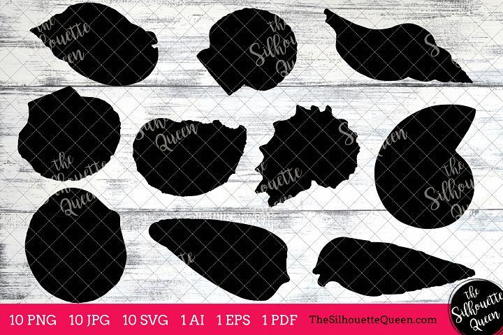 Mollusk Silhouette Clipart Clip Art(AI, EPS, SVGs, JPGs, PNGs, PDF), Mollusk  Clip Art Clipart Vectors - Commercial & Personal Use