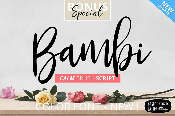 Bambi Font New Extras !