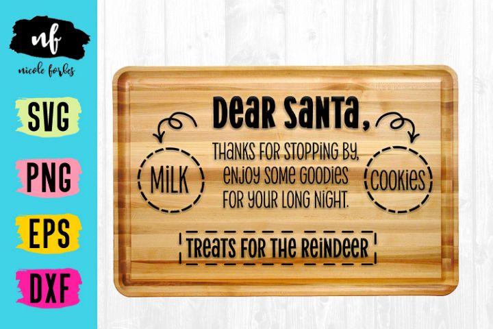 Santa Cookie Cutting Board SVG Cut File