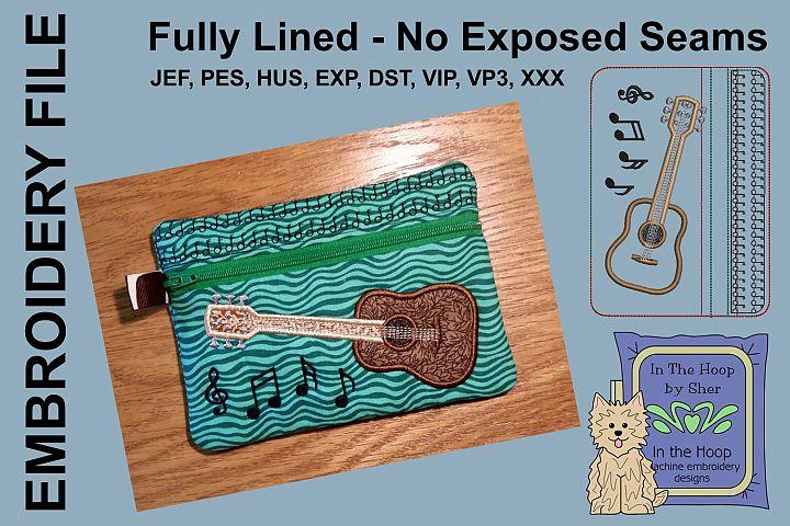 ITH Guitar Zipper Bag - Fully Lined, 5X7 HOOP