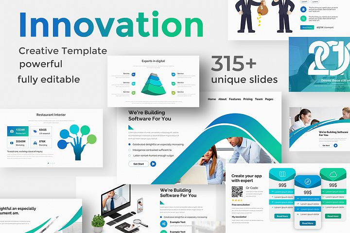 Innovation Process Pitch Deck Keynote Template