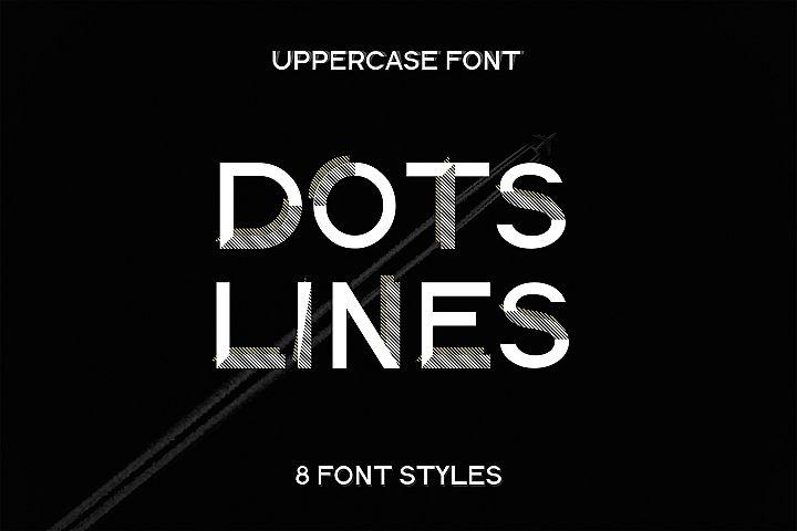 DOTS & LINES uppercase modern font