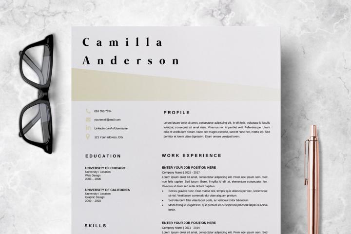 Resume Template | CV Template - Camilla Anderson
