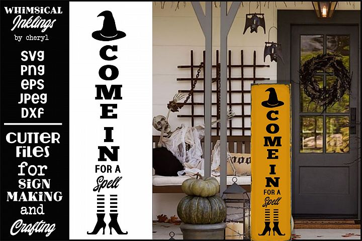 Come In For A Spell-Vertical Halloween SVG