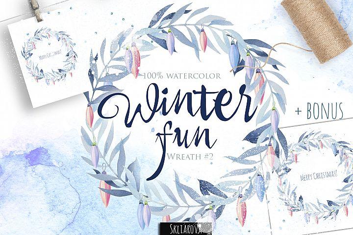 Winter fun. Wreath #2