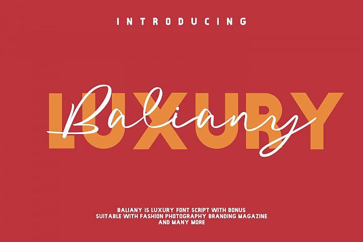 Baliany Luxury Script Font