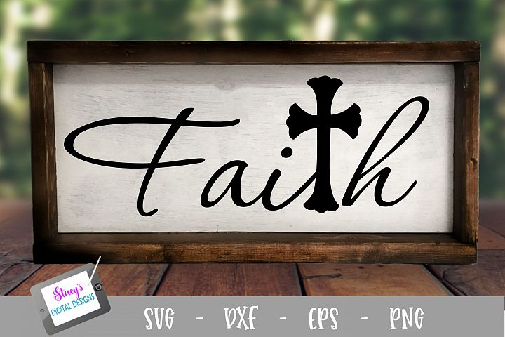 Faith SVG with cross - Christian SVG file