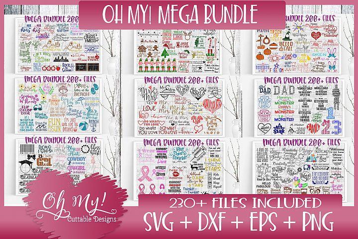 OH MY! MASSIVE BUNDLE SALE OVER 230 DESIGNS SVG DXF EPS PNG