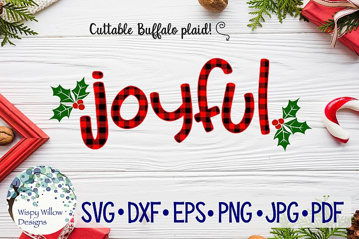 Joyful| Buffalo Plaid Christmas SVG