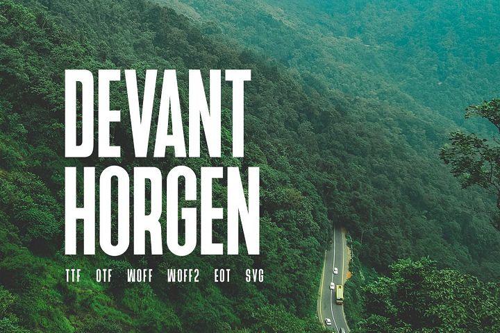 Devant Horgen - Modern Typeface with WebFont