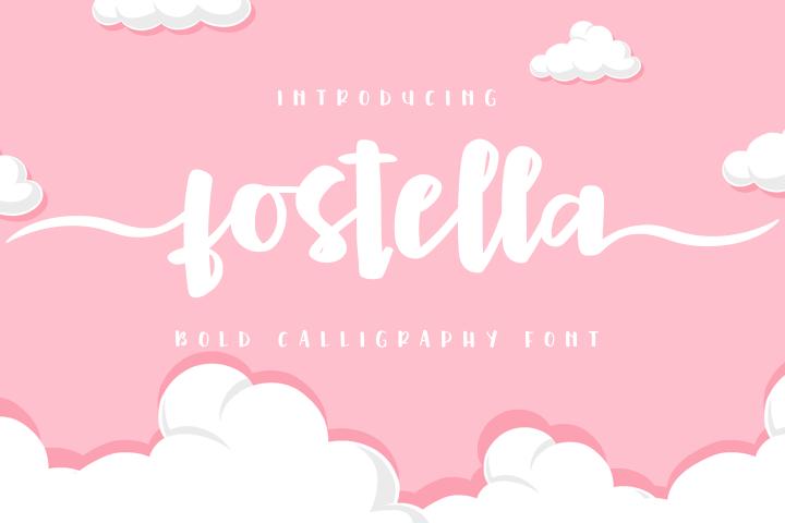 Fostella -Bold Calligraphy-