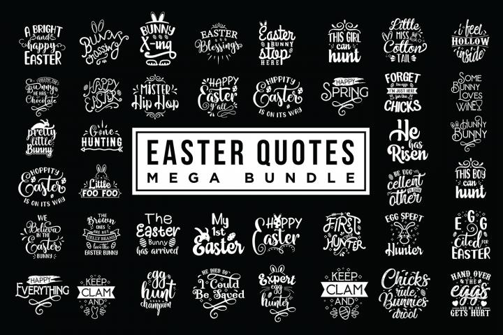 Easter Quotes SVG Mega Bundle - Easter SVG Cut Files