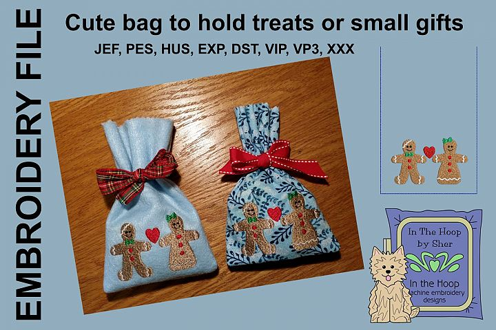 ITH Gingerbread Friends Treat Bag or Small Gift Bag
