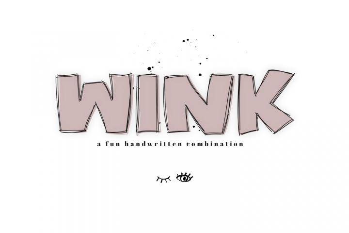 WINK - A Bold & Fun Handwritten Font