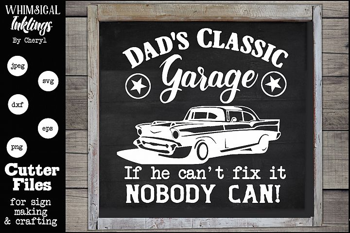 Dads Classic Garage 2 SVG