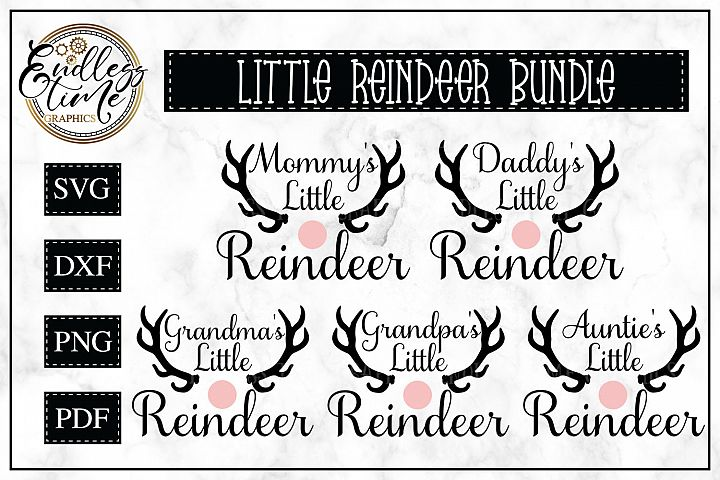 Mommys Little Reindeer Christmas SVG