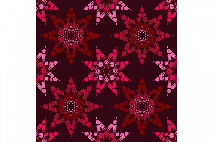 Stars. Boho ornament. Set of 10 seamless patterns.