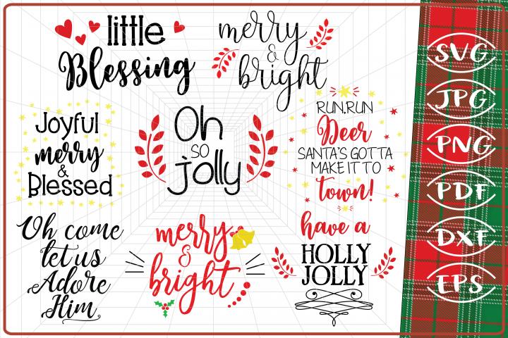 48 Files Christmas Bundle SVG Craft Cut Files Quotes Cut Svg