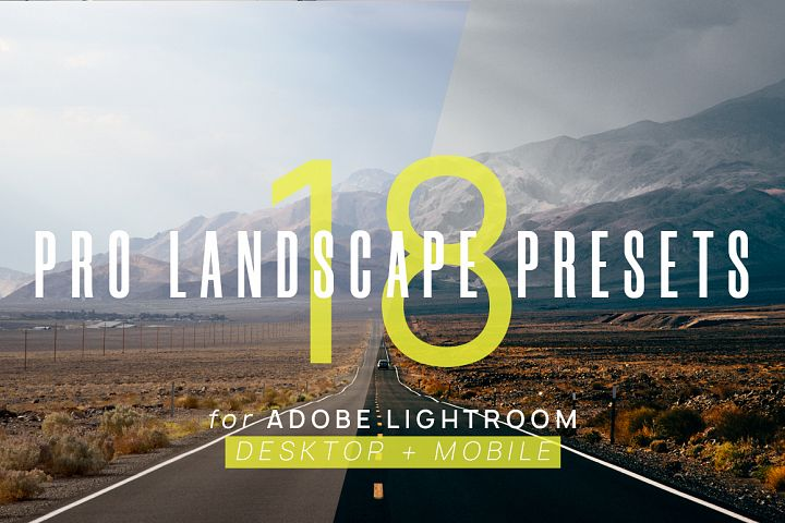 18 Pro Landscape Presets for Lightroom & Lightroom Mobile