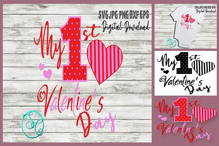 First Valentines Day Kids SVG