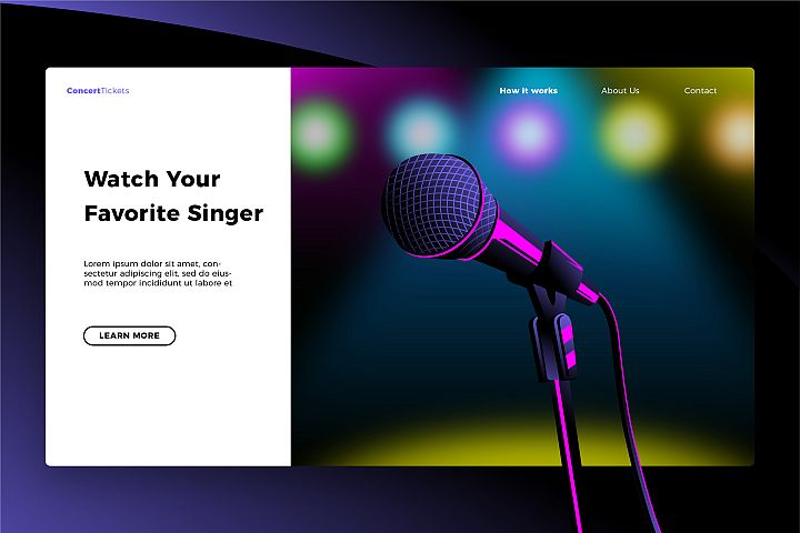 Favorite Singer - Banner & Landing Page