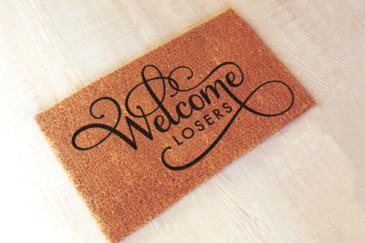 Welcome Losers Funny Doormat SVG Design