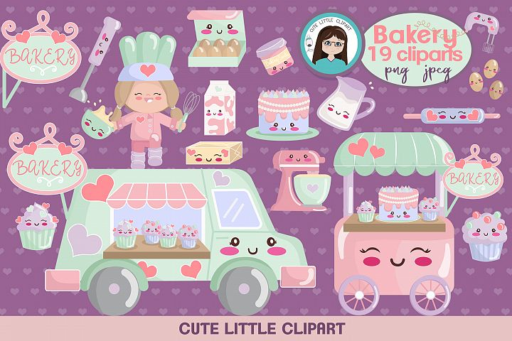 Bakery kawaii clipart