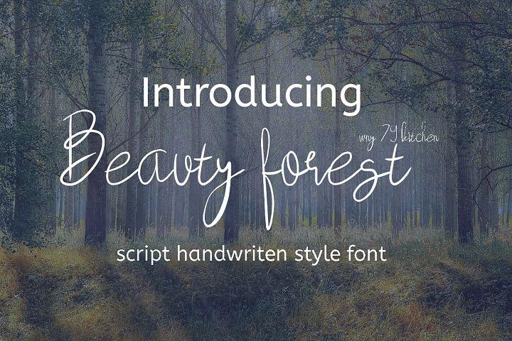 beauty forest script handwritten font