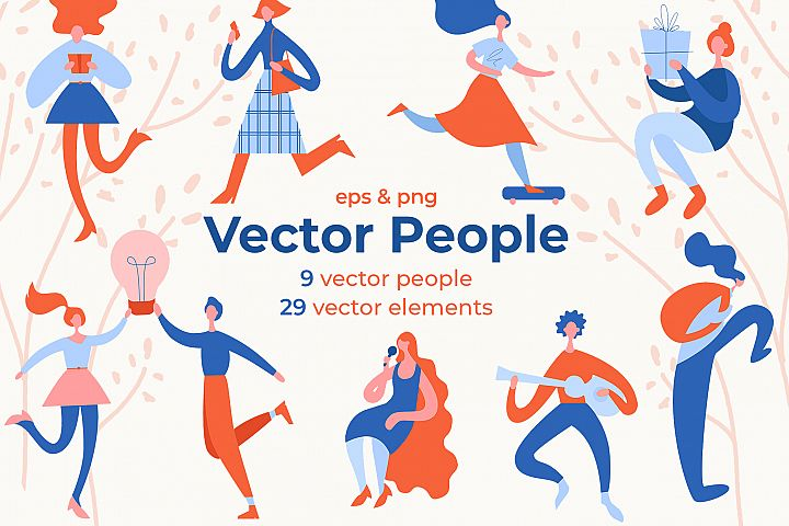People Characters Vector Set
