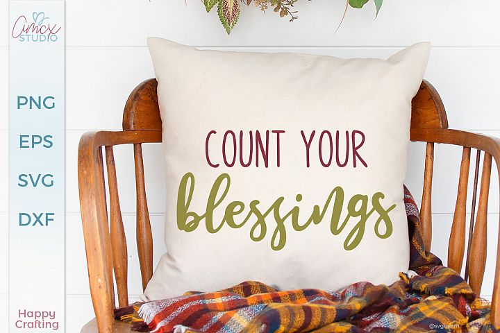 Count Your Blessing - A Cozy Home Decor Cut File