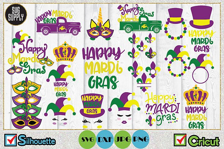 Mardi Gras Bundle SVG Cut File