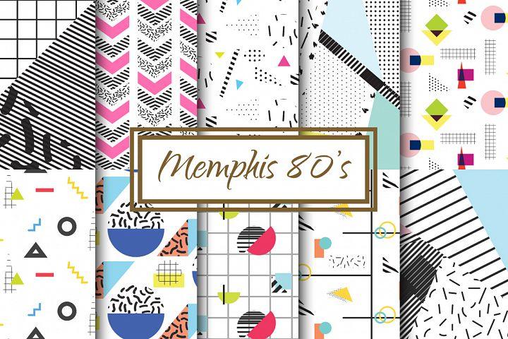 Memphis 80s Retro Backgrounds