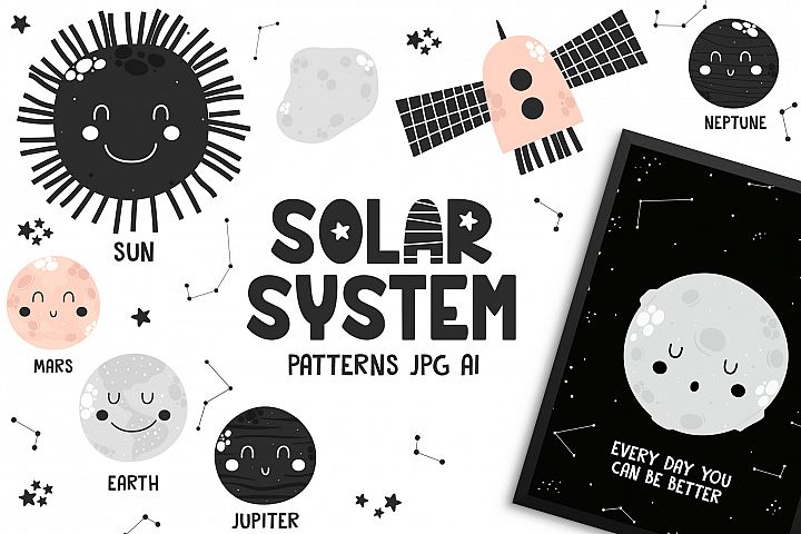 Solar System - Cute Characters