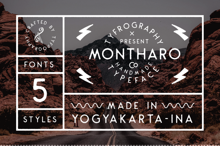 Montharo Typeface + Vector example image 3