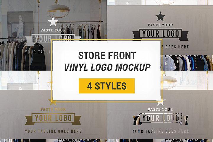 Store Front Vinyl Logo Mockup