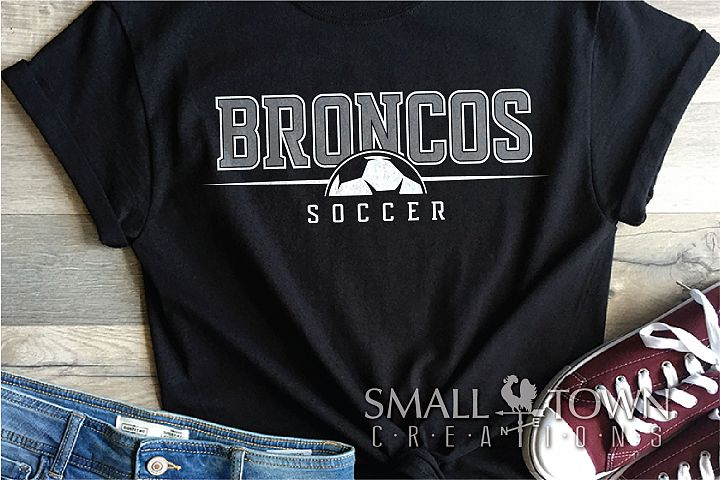 Bronco Soccer, Logo, Team, Sports, PRINT, CUT & DESIGN