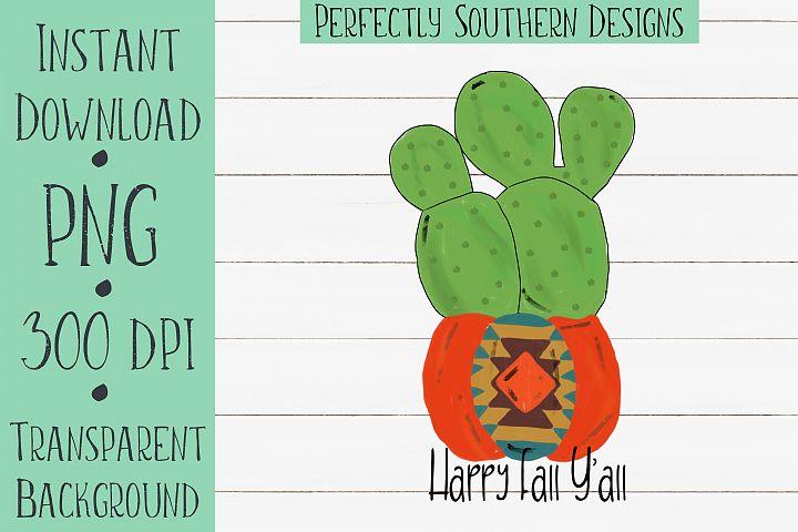 Cactus in a pumpkin