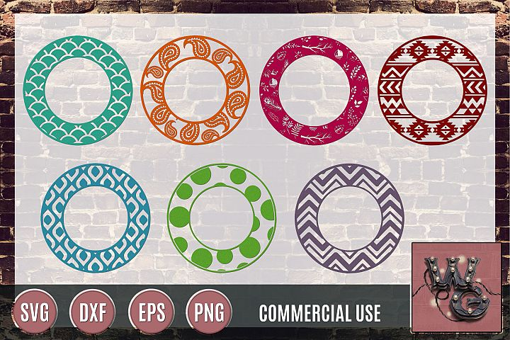 Circle Patterns SVG DXF PNG EPS Commercial