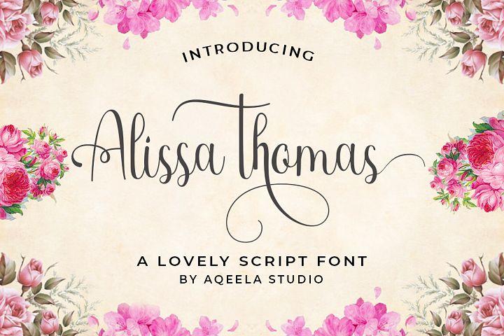 Alissa thomas Script