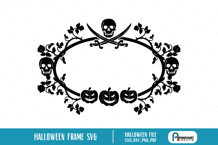 Halloween Monogram Frame svg, Monogram Frame svg, Monogram