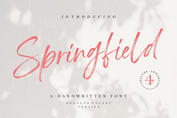 Springfield - Handwritten Font