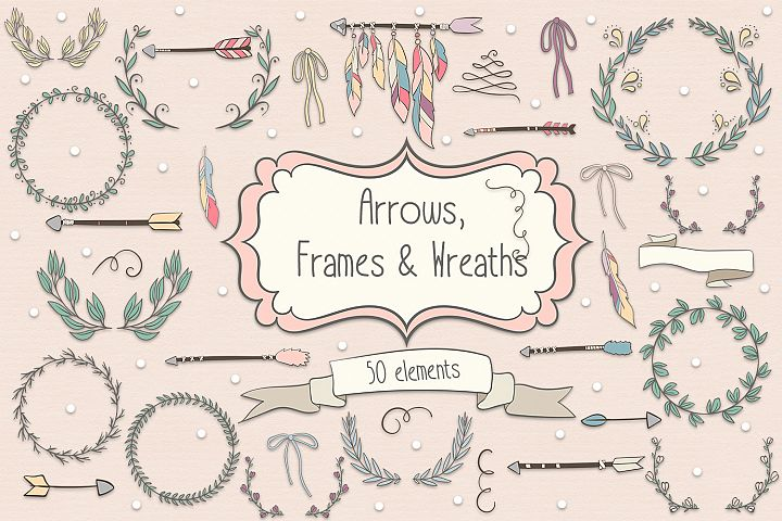 Arrows, Frames and Wreaths